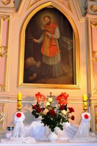 św. Walenty - po prawej stronie kościoła