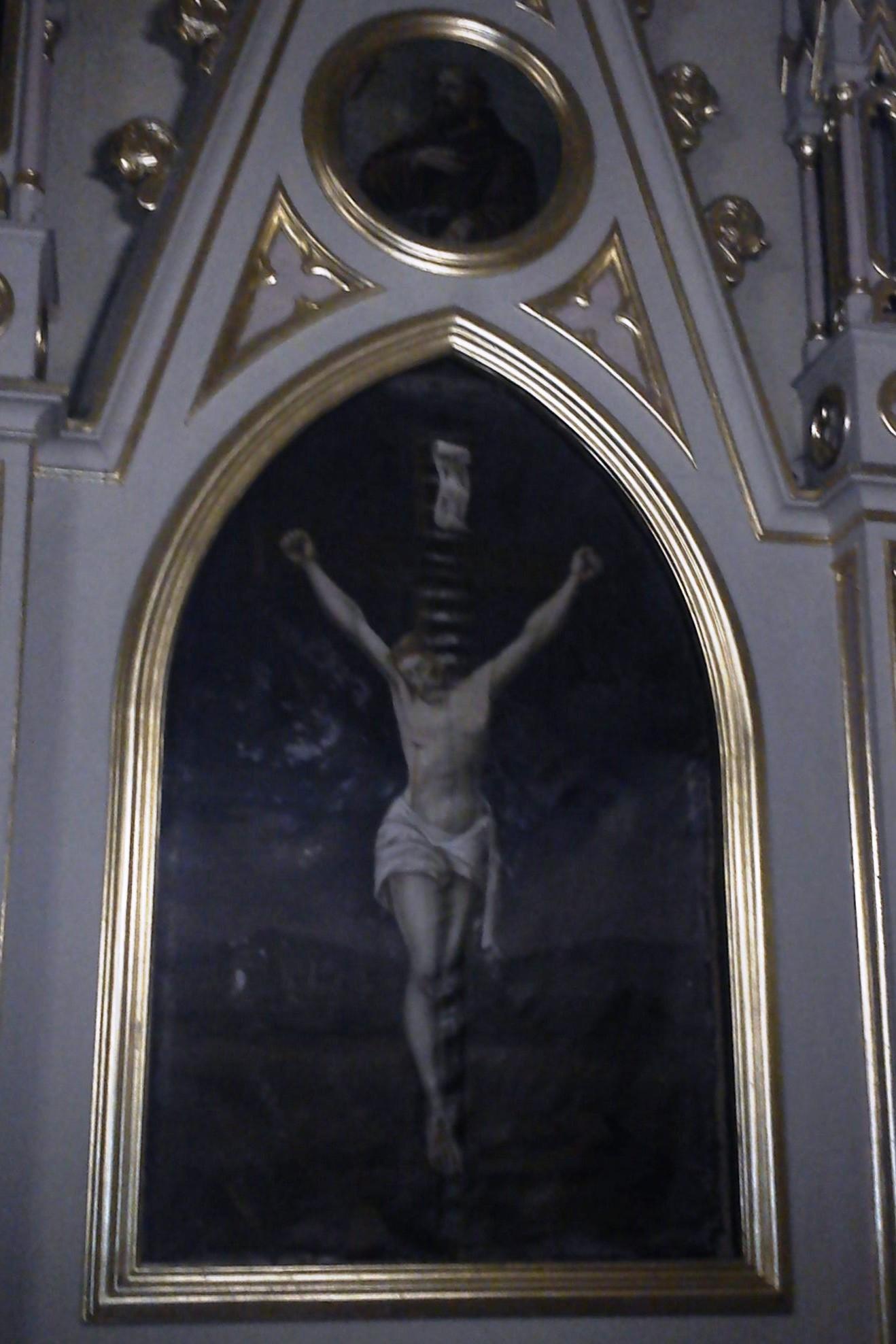 Ukrzyżowanie - ołtarz po prawej stronie kościoła