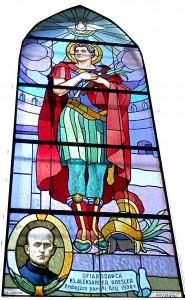 Witraż św. Florian